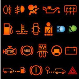 cars dash lights going
